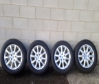 "Genuine Set (4) 18"" Porsche Cayenne alloy wheels"